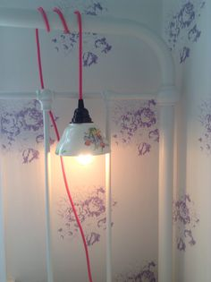 A Sugar Bowl Shade Lamp fit for a Princess!
