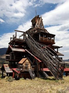Smith Mansion outside of Cody, WY @Katrina Alvarez Phillips remember when we climbed in this thing!?