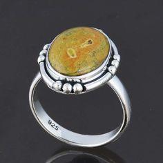 925 STERLING SILVER STICHTITE RING 6.19g DJR8151 SZ-9 #Handmade #Ring