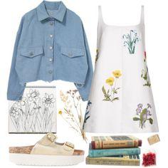 Denim, flowers and art