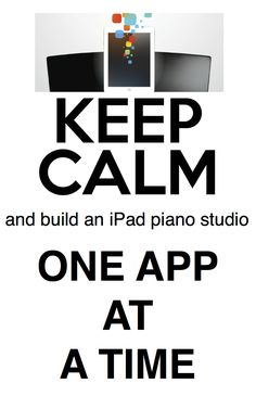 Got an iPad and piano students? Need to know how to use apps in lessons? Here ya go...
