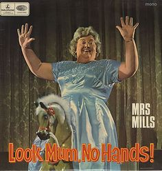 Good old fashioned entertainment? Inspired album artwork certainly. Everyone loves a party.... with Mrs Mills.