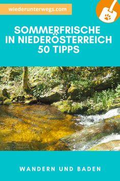 Über 50 Tipps für Ausflüge ans Wasser in NÖ German, Deutsch, Travel Alone, Water, Tips, Woman, German Language