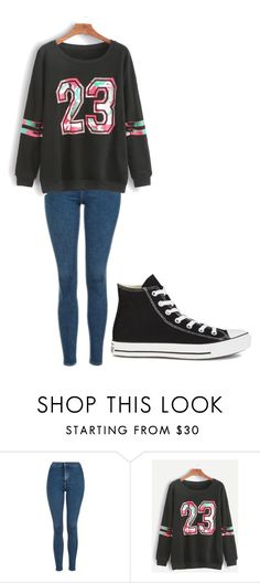 """Untitled #233"" by cruciangyul on Polyvore featuring Topshop, WithChic and Converse"
