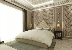 Moroccan Style Bedroom #bedroomdesign #interiordesign #stylishbedroom #classicdesign #moroccanstyle #decor #instapic  3D Artist @ireneslorenz Designer Ibu Tri Project Ks Tubun Residence by ad_archstudio