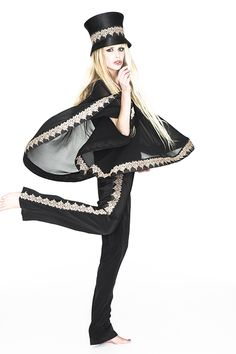 Crazy about our logo, Logo Poncho Blouse, Logo Pants and Logo Top Hat for Rocking Love Collection by Hippy Heart