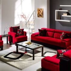 LOVE the red!!  Taken from http://www.centralarchitecture.com/2208/decorating-living-rooms-design-with-red-couch-and-red-sofa.html/sample-of-living-room-red-couch/