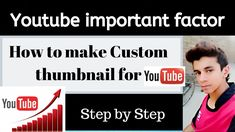 How to make youtube custom thumbnail Hacker World, Youtube Thumbnail, You Videos, How To Make