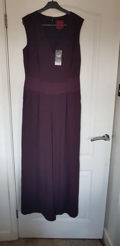 9b2ccc186f4e Next Gorgeous Plum Tailored Flare Trouser Jumpsuit Size 12 BNWT #fashion  #clothing #shoes