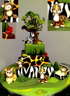 The best Jungle Cake ever!   ~ Go Jungle!! By KarenPadilla on CakeCentral.com