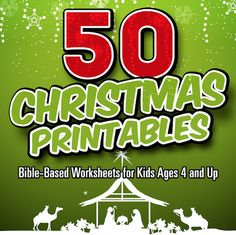 Christmas Printables that teach kids about Jesus. print as many as you need.