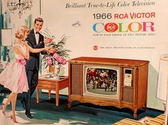 RCA VICTOR Color The year color television entered our house. Old Advertisements, Retro Advertising, Retro Ads, Radios, Color Television, Vintage Television, Tvs, Pub Vintage, Vintage Stuff