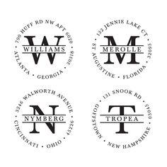 Monogram Stamps, Monogram Address Stamps, Custom Address Stamp, Self-Inking Return Address Stamp.Design 001 #CustomRoundStamp #InitialsStamp #HeartMonogram #ScriptRoundStamp #ReturnAddressStamp #RoundMonogramStamp #SelfInkingStamp #DesignerStamp #ArrowStamp #MonogramStamps Self Inking Address Stamp, Custom Address Stamp, Custom Stamps, Self Inking Stamps, Handmade Stamps, Circle Monogram, Return Address, My Stamp, Initials
