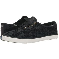 Keds Taylor Swift's Champion Brocade Velvet Women's Lace up casual... ($60) ❤ liked on Polyvore featuring shoes, stripe shoes, white lace up shoes, laced up shoes, keds shoes e brocade shoes