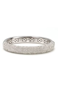 Nadri 'Micro' Medium Pavé Crystal Bangle Silver $158 would rock it w/th the gold one!