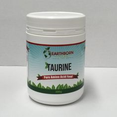 Earthborn Foods Taurine Pure Amino Acid Food 300 g at Megavitamins Online Supplement Store Australia.Taurine includes the Pure Amino Acid Food.