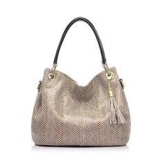 REALER brand handbag women genuine leather bag female hobos shoulder bags high quality leather tote bag-Women's Bags-Enso Store-Black-China-(30cm<Max Length<50cm)-Enso Store