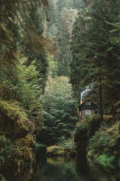 Cabin in Parc National De La Suisse Saxonne, Germany.