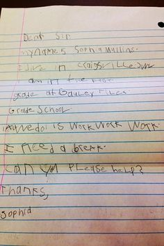 6-Year-Old Writes Letter To Senator Complaining About Homework (via BuzzFeed)