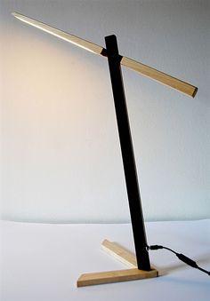 "Desk light, Dimmable, led, Handmade, ""Line"" Wooden light made of wenge and maple by WoodULight on Etsy https://www.etsy.com/listing/512714355/desk-light-dimmable-led-handmade-line"