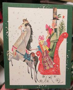 Vtg guideposts christmas cards story booklets angel children baby vtg mid century christmas card edwardian couple horse drawn sleigh snow unused m4hsunfo