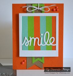 Pierced Fishtail Flags STAX Die-namics, Smile Die-namics - Teri Anderson #mftstamps