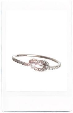 pavé diamond love knot, finn jewelry...obsessed.