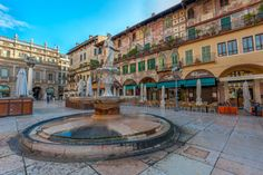 Piazza delle Erbe in Verona To learn more about #Verona click here:             http://www.greatwinecapitals.com/capitals/verona
