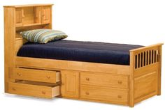 Full Size Captain's Bed with Underbed 4 Storage Drawer Chest Natural Maple Finish Atlantic Furniture http://www.amazon.com/dp/B002KJ1O2M/ref=cm_sw_r_pi_dp_hWW5tb1XEBRY1