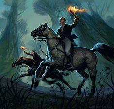 Fast Horses, Amelie Hutt on ArtStation at https://www.artstation.com/artwork/xdLW1