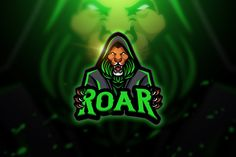 , Roar - Mascot & Esport Logo- Suitable for your personal or squad logo, All elements on this template are editable with adobe illustrator! Game Logo Design, Logo Design Template, Logo Templates, Esports Logo, Lion Logo, Corporate Branding, Free Logo, Coreldraw, Modern Logo