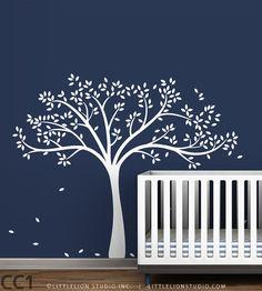 Tree Wall Sticker  Monochromatic Fall Tree by LeoLittleLion, $73.00