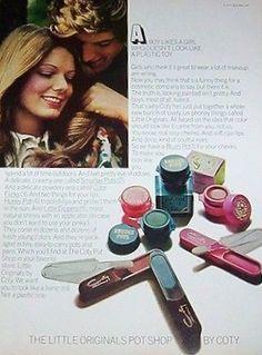 "Coty ""The Original Little Pot Shop"" Makeup Ad, ca. 1970's Makeup Ads"