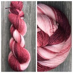 Hand Dyed Yarn Gradient Yarn Fingering Weight by Ombre Yarn, Pink Photo, Finger Weights, Hand Dyed Yarn, Daily Inspiration, True Colors, Red And Pink, Felting, Fiber Art