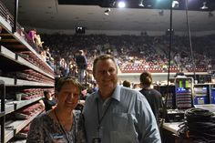 Jon & Sharla head to their seats before Pearl Jam takes the stage.