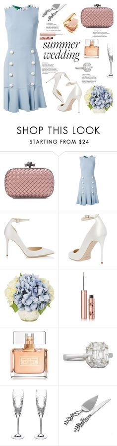 """Something Blue"" by little-curly-juli ❤ liked on Polyvore featuring Bottega Veneta, Dolce&Gabbana, Jimmy Choo, Charlotte Tilbury, Givenchy, Zydo, Waterford, Michael Aram, dolcegabbana and summerweddings"