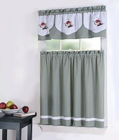 Amazon 3pc Beige With Yellow Sunflower And Butterfly Kitchen Cafe Curtain Tier Swag Set Home