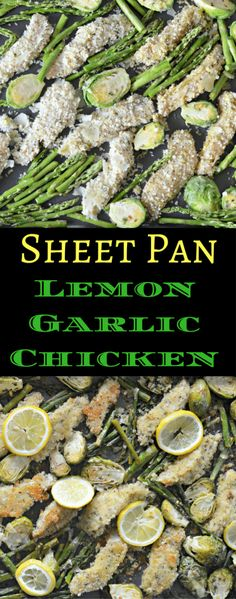 This recipe for sheet pan lemon garlic chicken is easy to make and tastes delicious. Check it out today!