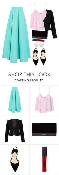 """""""My niece made this. :)"""" by preetj on Polyvore featuring Roksanda, MANGO, WithChic, Balmain, Paul Andrew, Maybelline and Chanel"""