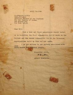 "Surat Albert Einstein: Moyang Teroris Itu Bernama ""Israel"""