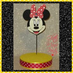 Minnie Mouse Stand - Lollipops / Cakepops Holder - Yellow/Red Minnie Mouse