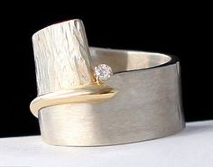 Chunky Hamered Band by BeadsFromTheCape on Etsy, $257.00