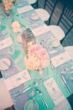 Love this tablescape. Matches our color scheme perfectly!