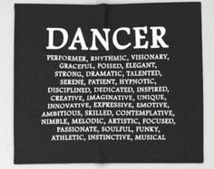 Dance Pillow Dance Quote Dancer Print Dancer by IDefineMeProject