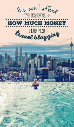 "How can you live a life of travel and earn money while traveling?"" I hear this question almost on a daily basis. It's time to explain the details. ""How can I afford to travel and how much money I ea Travel Jobs, Travel Blog, Travel Money, Budget Travel, Travel Hacks, Business Travel, Travel Plane, Travel Articles, Travel Stuff"