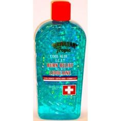 Hawaiian Tropic Lidocaine Burn Relief Gel 16 Oz (Pack of 2) by Hawaiian Tropic. $13.89. Hawaiian Tropic Lidocaine Burn Relief Gel soothes burns with I. C. E. (Instant Cooling Effect). Contains vitamins A and E, along with the cooling touch of exotic natural flora, fruit and nut extracts, to maximize your sunburn relief. Soothing. Moisturizing. Non-sticky. No animal testing.