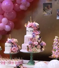 Lindo Unicorn Birthday Parties, Unicorn Party, Unicorn Cakes, Pretty Cakes, Cute Cakes, Deer Cakes, My Little Pony Cake, Love Cake, Cupcake Cakes