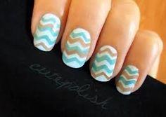 easy chevron nails   www.youtube.com/cutepolish