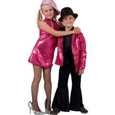 Déguisement disco veste fuchsia sequin enfant mixte, années 70-80, disco, danse, fêtes.