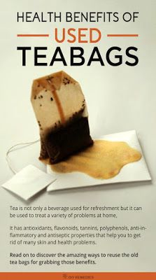 Health Benefits of Used Teabags